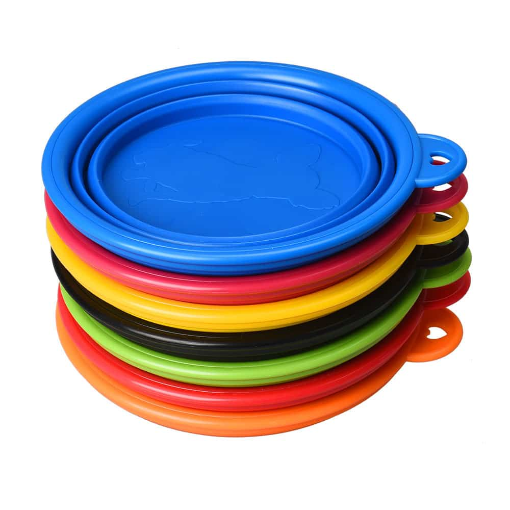 silicone dog bowl flat stack