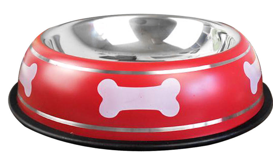 dog bowl red