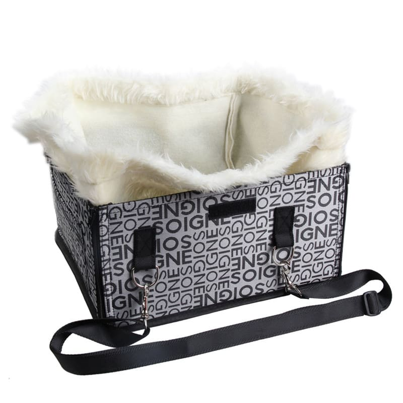 silver grey pet carrier